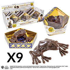 ND6051-Chocolate Frog Prop Replica stand - 9 pieces - Harry Potter