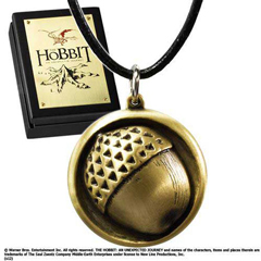 NN1289-Leather Chain Bilbo Button Pendant - Hobbit
