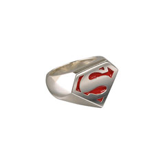 NN4012-Superman™ - Sterling Signet Ring