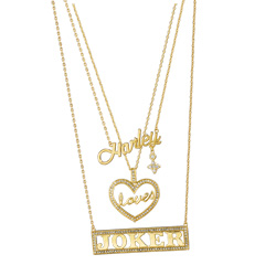 NN4060-DC- Harley Loves Joker Necklace Set