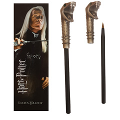 NN7984-Lucius Malfoy Wand Pen and Bookmark