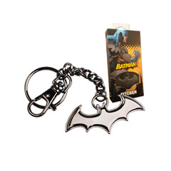 NNXT8363-Batman Shaped Logo Keychain (black)