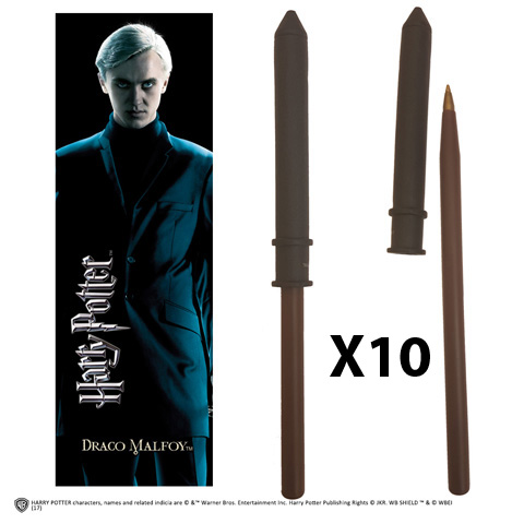 OFFRE_NOBLE-NN7956 - Draco Malfoy Wand Pen & Bookmark x 10