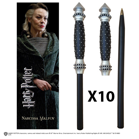 OFFRE_NOBLE-NN7994 - Narcissa Malfoy Wand Pen & Bookmark x 10