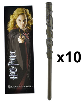 OFFRE_NOBLE-NN8634 - Hermione Wand Pen & Bookmark x 10