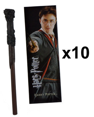OFFRE_NOBLE-NN8636 - Harry Potter Wand Pen & Bookmark  x 10