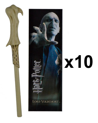 OFFRE_NOBLE-NN8638 - Voldemort Wand Pen & Bookmark  x 10